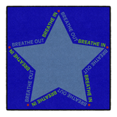Flagship Carpets, Well-Being You Are The Star Rug, Breathing Technique Design, Color, 30 x 30 Inches