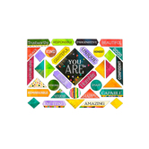 Color Me Brilliant, Motivational Mini Bulletin Board Set, 35 Pieces