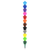 OOLY, Stars Stacking Crayons, 12 Interlocking Crayons, 8-1/4 Inches, 1 Each