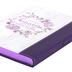 Christian Art Gifts, Lamentations 3:22-23 His Mercies Are New Slimline Journal, Faux Leather, White/Purple, 240 Pages