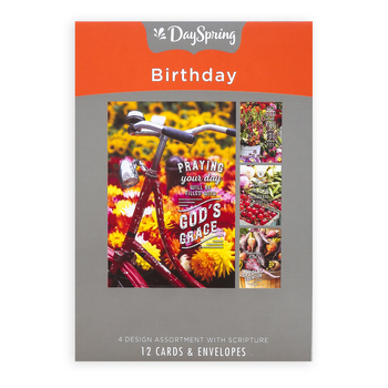 DaySpring, Farmers Market Birthday Boxed Cards, 12 Cards with Envelopes