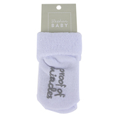 Stephan Baby, Proof Of Miracles Inspirational Socks, Cotton, White, Size 3 to 12 Months