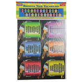 McDonald Publishing, Brighten Your Vocabulary Chalkboard Topper, 8.5 Inches x 14.5 Feet, 8 Pieces