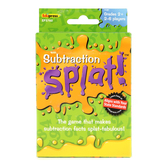 Edupress, Subtraction Splat! Card Game, Grades 2 and Up, 2 to 6 Players, 225 Pieces