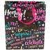Medium Birthday Words Gift Bag, Paper, Black/Pink, 9 1/2 x 11 1/2 Inches