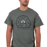 Red Letter 9, Praise Him From the Mountaintops, Men's Short Sleeve T-Shirt, Military Green Heather, S-3XL