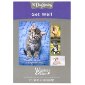 DaySpring, Whiskers & Paws Get Well Soon Boxed Cards, 12 Cards with Envelopes