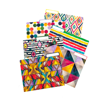 Color Me Brilliant Collection, File Folders, 11 x 8.5 Inches, Multi-Colored, 12 Pieces