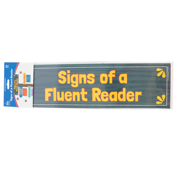 Carson-Dellosa, Signs of a Fluent Reader Mini Bulletin Board Set, Multi-colored, 31 Pieces, Grades 1-5