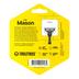 Tooletries, Mason Razor Holder, Silicone, Charcoal, 2 3/4 x 2 3/4 inches