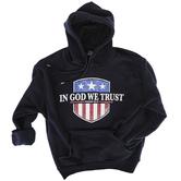 Kerusso, Psalm 33:12 In God We Trust, Men's Long Sleeve Hoodie, Navy, X-Large