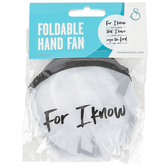 Swanson, Jeremiah 29:11, For I Know Folding Hand Fan, White, 10 inches with 3 1/2 x 3 3/4 inch Case