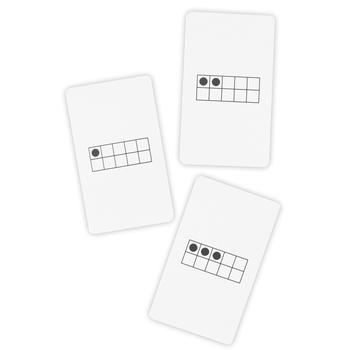 1-50 Ten-Frame Cards, 50 Flash Cards