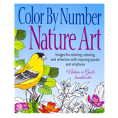 Product Concept Manufacturing, Color by Number Adult Coloring Book, Natura Art, 8 1/2 x 11 Inches