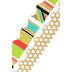 TooCute Collection, Scalloped Double-Sided Border Trim, 38 Feet, Chunky Stripes and Polka Dots
