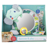 Infantino, Wee Wild Ones Discover & Play Activity Mirror, 7 1/2 x 9 inches