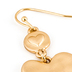 His Truly, Heart Dangle Earrings, Zinc Alloy, Brushed Gold
