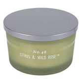 Citrus & Wild Rose Scented Aromatherapy Jar Candle, 15 ounces, 5 1/4 x 3 1/4 inches