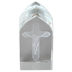 Christian Brands, Crucifix Etched Glass Plaque, 1 1/2 x 3 1/4 x 1 1/8 inches