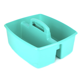 Storex, Large Caddy, Teal, 2 Compartments, Plastic, 13 x 11 x 6.38 Inches, 1 Piece