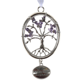 Ganz, Faith Tree Ornament, Silver, 3 3/4 x 2 3/4 Inches