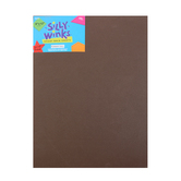 Silly Winks, Self-Adhesive Foam Sheet, 9 x 12 inches, Brown