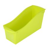 Storex, Large Book Bin, Lime, 14.30 x 5.30 x 7 Inches, 1 Piece