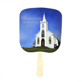 Swanson, Rejoice in the House of the Lord Hand Fan, 12 3/4 x 7 1/2 inches