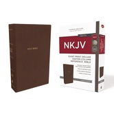 NKJV Giant Print Center-Column Reference Bible, Imitation Leather, Multiple Colors Available