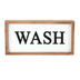 Wash Wall Plaque, MDF & Metal, White, Black, and Brown, 13 x 7 inches