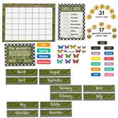 Schoolgirl Style, Woodland Whimsy Calendar Bulletin Board Set, 94 Pieces