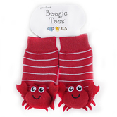 Piero Liventi, Crab Boogie Toes Rattle Socks, Red & White, Ages 0 to 12 Months