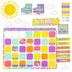 Renewing Minds, Customizable Rainbow Stripes Calendar Bulletin Board Set, Multi-colored, 120 Pieces