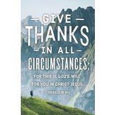 Salt & Light, Give Thanks In All Circumstances Church Bulletins, 8 1/2 x 11 inches Flat, 100 Count
