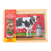Melissa & Doug, Farm Animals Jigsaw Puzzles, 12 Pieces Each, 8 x 6 inches, 1 Each of 4 Puzzles