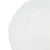 White Scalloped Plate Charger, Plastic, 13 inches