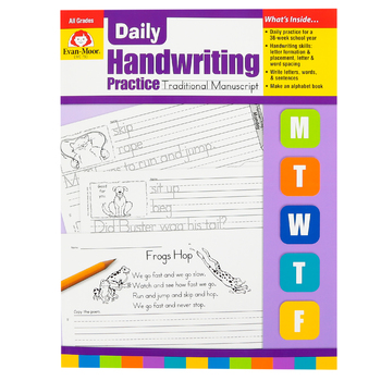Evan-Moor, Daily Handwriting Practice Traditional Manuscript, Teacher's, 112 pages, Grades K-6