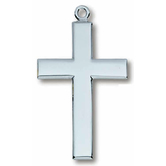 H.J. Sherman, Medium Flat Cross, Men's Necklace, 24 inches
