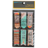 Salt & Light, Wood and Lace Pattern Magnetic Bookmarks, 6 Bookmarks
