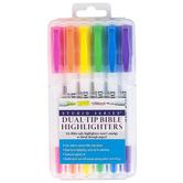 Peter Pauper Press, Inc., Studio Series, Dual-Tip Bible Highlighters, 1 Each of 6 Fluorescent Colors