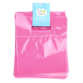 Bright Ideas, Zipper Bags with Handle, Soft Pink, Translucent Plastic, 20 Count