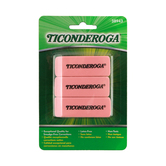 Dixon Ticonderoga, Erasers, 3 x 1 Inches, Pink, Pack of 3