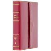 KJV Compact Reference Bible, Large Print, Imitation Leather, Snap Closure, Multiple Colors Available