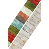 Renewing Minds, Double-Sided Border Trim, 38 Feet, Colorful Wooden Fence