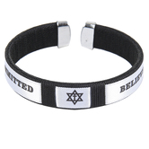 Holy Land Gifts, Committed Believer Bracelet, Black & White, 7 1/2 inches