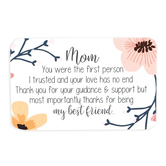Carson Home Accents, Mom My Best Friend Pocket Card, Plastic, 2 x 3 1/4 inches