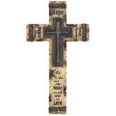 Joshua 24:15 Resin Wall Cross, 15 x 8 1/2 inches