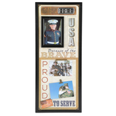 Open Road Brands, Military Photo Collage, Black, 10 x 24 1/2 inches
