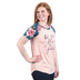 Rooted Soul, And If Not He Is Still Good, Women's Short Sleeve Raglan Top, Blush and Floral, X-Small