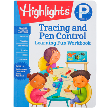 Highlights, Preschool Tracing and Pen Control Learning Fun Workbook, Paperback, 49 Pages, Grade PreK